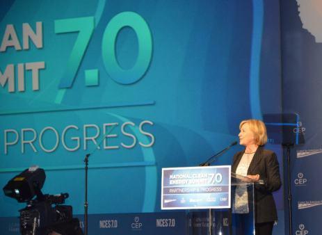 Hillary Clinton Podium NCES 7 9-4-14 2